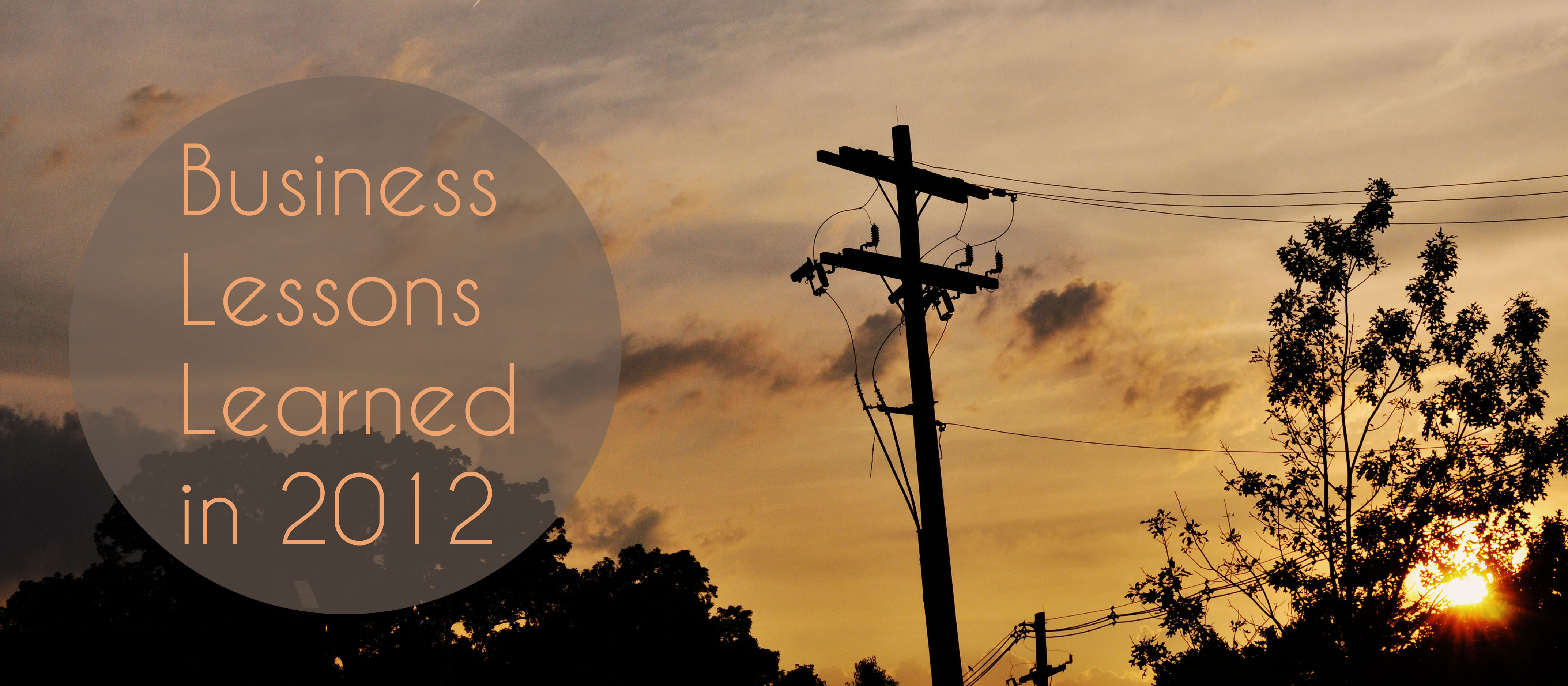 business lessons learned in 2012